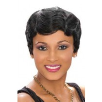 Short Wavy Indian Remy Hair Ombre Color Machine Made Glueless Cap Wigs PWHH-13-1005