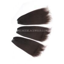 Brazilian Virgin Hair Weave Kinky Straight 4ozs thick Hair 3 Bundles Deal