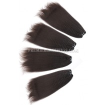 kinky straight Brazilian Virgin Hair Weave 4ozs Thick Hair 4 Bundles Deal