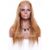 Blending Color Brown Blonde 27/30# Full Lace Wigs Chinese Virgin Hair Light Yaki