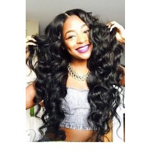 """Sexy Big Wave 6"""" Deep Part 360° Lace Wigs,Indian Remy Hair,150% Thick Density,Pre-Plucked Hairline,Removable Elastic Bands"""