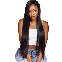 "Yaki Straight 6"" Deep Part 360° Lace Wigs,Indian Remy Hair,150% Thick Density,Pre-Plucked Hairline,Removable Elastic Bands"