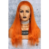 Orange Hair Full Lace Wig Chinese Virgin Human Hair Straight