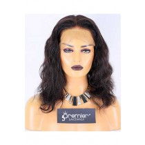 Clearance 360 Lace Wig,Natural Wavy,Indian Remy Hair,14inches,Natural Color,150% Density,Medium Size