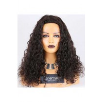 Clearance Affordable Full Lace Wig With Full Lace Wig,25mm Curl,Indian Remy Hair,Natural Color,20 inches,120% Normal Density,Medium Cap Size,Medium Brown Lace