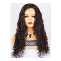 Clearance Full Lace Wig 25mm Curl,Chinese Virgin Hair,Natural Color,22 inches,120% Normal Density,Medium Cap Size,Light Brown Lace