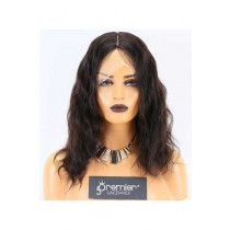 Clearance Glueless Silk Top Full Lace Wig,Indian Remy Hair,Natural Wave,2# 14 inches,120% Normal Density,Small Size, Transparent Color Lace