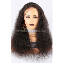 Clearance Glueless Lace Front Wig,Natural Color,Deep Body Wave,Brazilian Virgin Hair,Medium Cap Size,20inches,120% Density