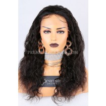 Clearance Glueless Lace Front Wig,Natural Color,Loose Curl,Brazilian Virgin Hair,Medium Cap Size,18inches,120% Density