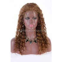 Clearance 5*5 Silk Top Lace Front Wig,10# Color,16 inches,Deep Curl,Chinese Virgin Hair,Medium Cap Size,100% Density,Pre-plucked Hairline