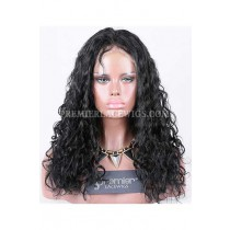 Clearance Full Lace Wig,Loose Curl,Chinese Virgin Hair,18inches,1#,120% Density,Medium Size