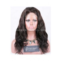 Clearance Full Lace Wig,Chinese Virgin Hair,Body Wave,1B#,16 inches,120% Normal Density,Large Size,Light Brown Lace