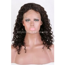 Clearance Full Lace Wig,Natural Curls,Remy Indian Hair,Natural Color,14 inches,120% Density,Medium Cap Size