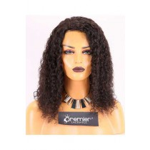 Clearance Silk Top Full Lace Wig,10mm Curl,Indian Remy Hair,Natural Color,16 inches,130% Density,Medium Cap Size