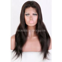 Clearance Glueless Full Lace Wig,Yaki Straight,Indian Remy Hair, 2# Color,16 inches,120% Density,Medium Cap Size