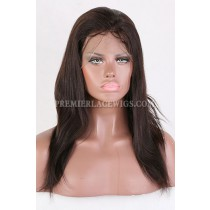 Clearance Glueless Full Lace Wig,Yaki Straight,Indian Remy Hair, 2# Color,14 inches,120% Density,Small Cap Size