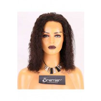 Clearance 4.5'' Lace Front Wig,15mm Curl,Chinese Virgin Hair,Natural Color,12 nches,130% Normal Density,Average Size,Medium Brown Lace