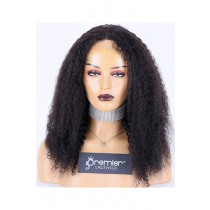 Jerri Curl Indian Remy Hair Full Lace Wig,16inches,1B# Color,Medium Cap Size,120% Density