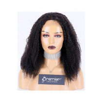 Afro Curl Indian Remy Hair Full Lace Wig,16inches,1B# Color,Medium Cap Size,120% Density