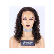 Brazilian Curl Brazilian Virgin Hair Full Lace Wig,16inches,Natural Color,Medium Cap Size,120% Density