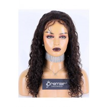 Brazilian Curl Brazilian Virgin Hair Full Lace Wig,18inches,Natural Color,Medium Cap Size,120% Density