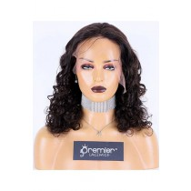 Spiral Curl Brazilian Virgin Hair Full Lace Wig,18inches,Natural Color,Medium Cap Size,120% Density