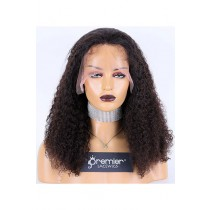 Jerri Curl Brazilian Virgin Hair Full Lace Wig,18inches,Natural Color,Medium Cap Size,120% Density