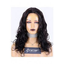 Beyonce Big Body Wave Indian Remy Hair Full Lace Wig,16inches,1B# Color,Medium Cap Size,120% Density