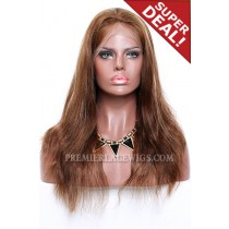 4/12# Highlights Color Full Lace Wigs Indian Remy Human Hair Natural Straight