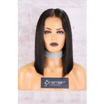 """13""""x4.5"""" Lace Frontal Wig,Middle Part Silky Straight Bob"""