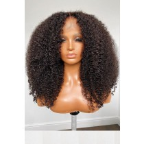 Affordable Lace Parting Wig Kinky Coily