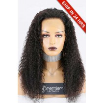 "Super Deal 4.5"" Lace 360 Wig,Indian Remy Hair Natural Color,22 inches Water Wavy 150% Thick Density, Medium Size,Light Brown Lace."