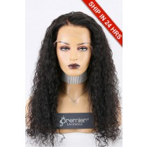 Super Deal 13x6 Lace Front Wig,Indian Remy Hair Natural Color,22 inches Curly 150% Thick Density, Large Size [Pre-Bleached Knots,Pre-Plucked Hairline,Removable Elastic Band]