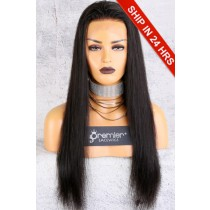 Affordable 13x4.5 Lace Frontal Wig,Silky Straight Indian Remy Hair Natural Color,150% Thick Density  [Advanced Pre-Bleached Knots,Pre-Plucked Hairline,Pre-Added Removable Elastic Band]