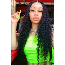 30 Inches Extra-Long Hair,Deep Wave 360 Lace Wig