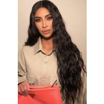 "30 Inches Extra-Long Hair Natural Wave, 6"" Deep Part Lace Frontal Wig"