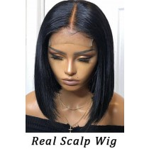Real Scalp Silk Top Bob Cut