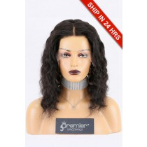 "Super Deal Invisible Knots,Super Thin Transparent HD Lace,13""x 6"" Lace Frontal Wig Indian Remy Hair Wavy,12 inches 130% Normal Density,Large Size [Pre-Plucked Hairline,Removable Elastic Band]"