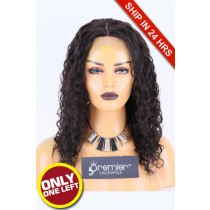 Super Deal Silk Top Lace Front Wig Deep Wave, Indian Remy Hair Natural Color 16 inches 180% Thick Density, Average Size, Removable Elastic Band