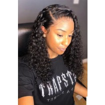 Side Parting Style Natural Curly Hair