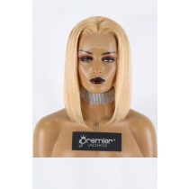"""Blunt Cut Bob 27/613# Blonde Hair 13""""x3"""" Lace Frontal Wig Silky Straight,12 inches, Average Size,150% Thick Density,Transparent Lace, Removable Elastic Band"""