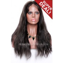 Black Hair Blonde Highlights 1B/27# Full Lace Wigs Indian Remy Hair Natural Straight