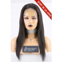 "Super Deal 4.5"" Lace 360 Wig,Indian Remy Hair Natural Color,16 inches Silky Straight"