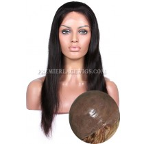 Full Thin Skin Wigs 100% Human Hairs Silky Straight