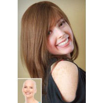 Alopecia Totalis Women's Wigs,100% Virgin Human Hair Full Lace Straight Style