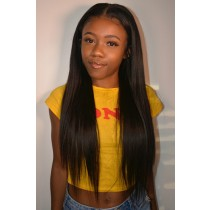 AyannaElise's Yaki Straight Indian Remy Hair Anatomic 360° Lace Wigs
