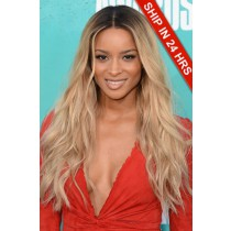 Ciara Long Ombre Blonde Style Wavy Virgin Hair Lace Wigs