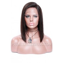 "A-Line Cut Bob Style,Deep C Side Part,4.5"" Pre-Plucked Lace Front Wig"