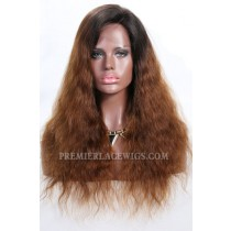 Brown Ombre Hair Natural Straight Lace Front Wigs
