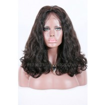 "Beyonce-Double Drawn Hair Lace Front Wig Bombshell Wavy Indian Remy Hair,220% High Density,4.5""Deep Part Space,Pre-Plucked Hairline"